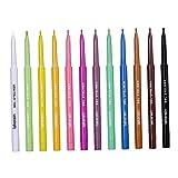 kowaku Los Delineadores de Ojos Líquidos, Delineador de Ojos Colorido Brillante Mate Fijaron Prenda Impermeable de 12 Colores