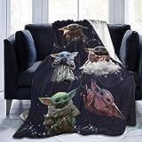 Baby Yodas Manta ultra suave para sofá cama Warm50 x 60 pulgadas, manta de felpa de felpa adecuada para todas las estaciones
