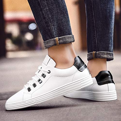 LOVDRAM Chaussures Hommes New Single chaussures Chaussures en Cuir Sauvages Mode Chaussures Blanches Hommes