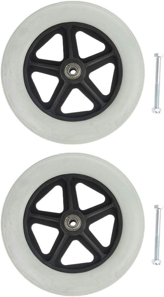 2 Sale Pack Universal 19cm 8Inch Wheels Solid - Tires Replacement Par