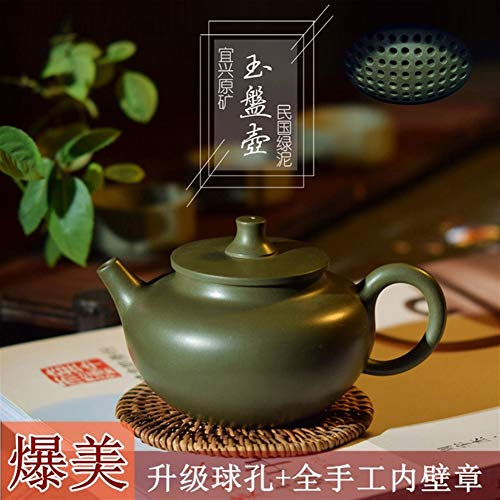 HuiQing Zhang Qingfeng Pavilion Purple Tonerz Original Masters to Help Workers Handball Loch Wand Chapter Jade Platte Kanne Teekanne Lila Schlamm