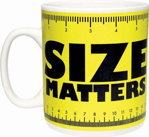 Paladone - Taza Gigante con Texto Size Matters, Color Amarillo