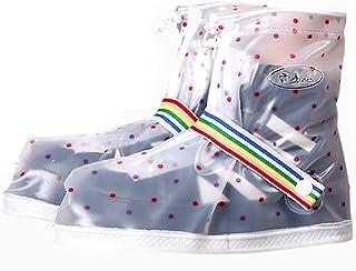 QFWM Botas de Lluvia Cubrebotas Impermeables para Mujer Zapatillas Antideslizantes Impermeables Antideslizantes para Cicli...