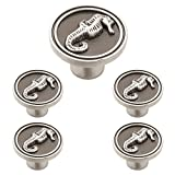Franklin Brass PBF661-BSP-C1, Seahorse Drawer Knobs Cabinet Hardware Collection, Cabinet Knobs, 1-3/8 in., Brushed Satin Pewter, 5 pack