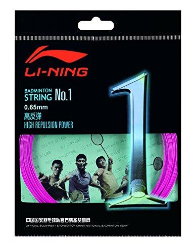 Li Ning 10 m Badminton Schläger-Saite No. 1 pink