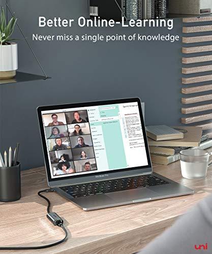 USB C zu Ethernet Adapter, uni USB C auf RJ45 Gigabit Ethernet LAN Netzwerkadapter, kompatibel für iPad Pro, MacBook Pro, MacBook Air, Surface Book usw.