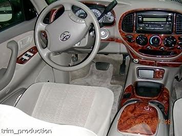 Amazon Com Toyota Tundra Interior Burl Wood Dash Trim Kit Set 2000 2001 2002 2003 Automotive