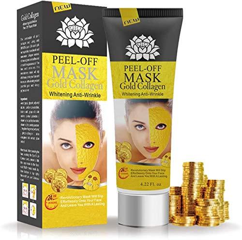 HWXDH 24k Gold Face Mask Removedor de espinillas Tratamiento para el acné Máscara despegable Limpieza Profunda Poro Cuidado de la Piel Shrink