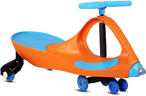 Kinder Twist Auto Antikollisionskopf Baby Spielzeugauto 1-3 Jahre Alt Roller Stumm Rad Yo Auto Schaukel Auto Xuan - worth having (Farbe   Orange)
