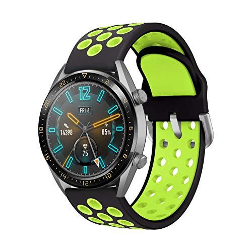 AOTVIRIS Compatible con Correa Huawei Watch GT 2 46mm/GT 2 Pro/Huawei Watch GT 2e/Huawei Watch GT Sport/Active 22mm Banda Silicona Pulsera para Galaxy Watch 46mm/Gear S3 Frontier