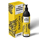 Bold Care Anti Dandruff Shampoo for Men 200ml - Paraben and Sulphate Free - Soothes Itchy and Dry Scalp - All Hair Types - Green Apple Fragrance