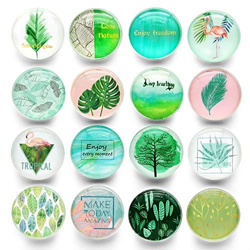 16 Imanes De Cristal Para Nevera, Imanes Creativos Para Nevera, Bonitos Adhesivos...