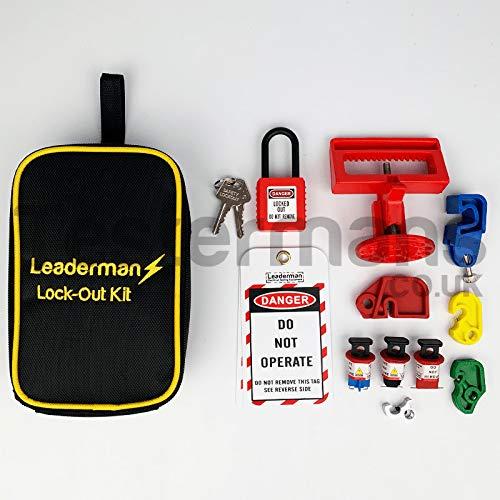 Leaderman bloqueo/apagado interruptor/RCD–Kit de aislamiento con grandes con interruptor y candado loi-k3