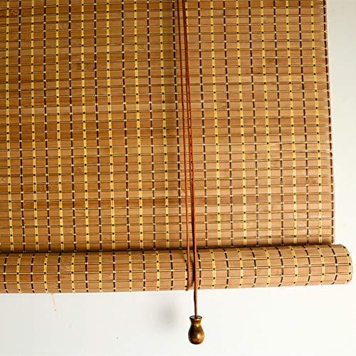 QL Bamboo Blind Shades Filtración de luz Oclusión en el hogar Privacidad Hecho a Mano, Impermeable y a Prueba de Polvo, para Exteriores, Interiores y Personalizables