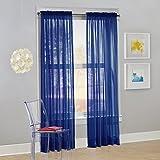 No. 918 Calypso Sheer Voile Rod Pocket Curtain Panel,...