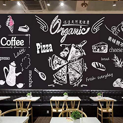 HRXBH Mural 3D Restaurante Occidental Pizza Burger Coca-Cola Beber Fondo De Pantalla Restaurante Cafetería Oficina Gimnasio Sala De Estar Dormitorio Habitación De Hotel Decoración (W)400x(H)280cm