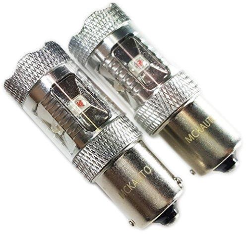 MCK Auto - Remplacement pour Set d'ampoules blanches CanBus P21W BA15S LED très claires et sans erreurs compatibles avec A1 A3 F30