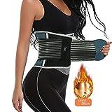 Waist Trainer Belt for Women Waist Trimmer Slimming Body Shaper Workout Fitness Cincher Fluorescence Belly Girdle(Grey, Small)