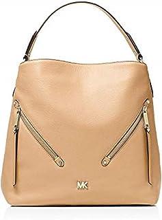 MICHAEL KORS Women's Evie Large Pebbled Leather Shoulder Bag truffle