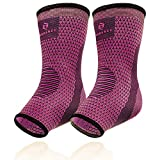 Achilles Tendon Support for Women, Ankle Compression Sleeve For Running, Tendonitis and Flat Feet Relief, Plantar Fasciitis Sock (Fuchsia Purple, Unisize)