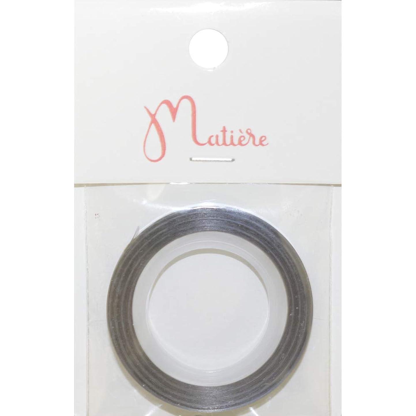 印象的お誕生日財団MATIERE オーロララインテープ シルバー 3mm×8m