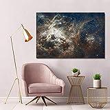 SADHAF Impresión en lienzo Cielo estrellado Pintura...