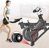 Bicicleta estática vertical de fitness Home Silent Sports autopropulsable Smart Belt Soporte Multifuncional Portátil 250kg Bicicleta estática Aerobic Entrenamiento Negro 116 x 52,5 x 102 cm