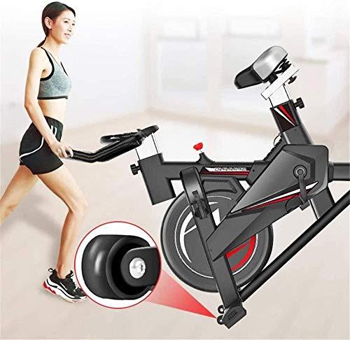 Bicicleta estática vertical de fitness Home Silent Sports autopropulsada Smart Belt soporte multifunción soporta hasta 250 kg, aparato de fitness interior de 116 x 52,5 x 102 cm, color negro