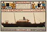 Poster, Motiv: Steamship Batavier Rotterdam London 1916,