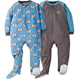 Gerber Boys' 2-Pack Blanket Sleeper, Monkey, 3T