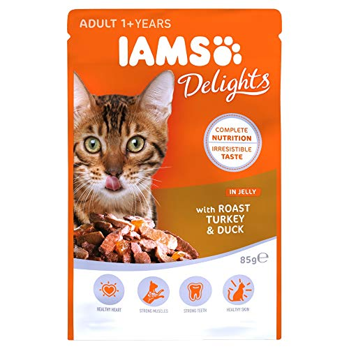 IAMS Cibo Umido per Gatti Delights Roast Turkey & Duck in Jelly - 85 gr