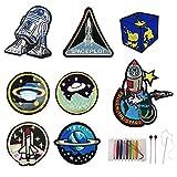 Woohome 8 PCS Astronauta, Planeta Parches Ropa Termoadhesivo