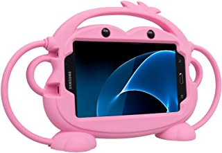 Kids Case for Samsung Galaxy Tab 3/3 Lite/4/E Lite 7.0 inch Tablet - CHINFAI [Double-Faced Monkey Series] Shock Proof Hand...