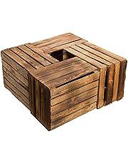 Juego de 4Massive fruta (manzana caja Vino Caja de madera multiusos + + + 49x 42x 31cm
