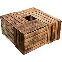 Kistenkolli Altes Land Juego de 4Massive Fruta (Manzana Caja Vino Caja de Madera Multiusos + + + 49x 42x 31cm