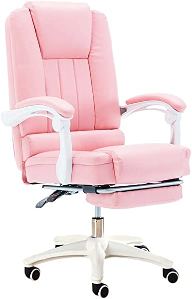 Swivel Chair Mesurn Computer Chair Comfortable Home Game Chair Simple E Sports 360 Rotating PU Leather Office Chair Color Pink