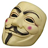 GOODS+GADGETS V wie for Vendetta Mask - Guy Fawkes Mask - Beige Halloween Karneval Anonymous
