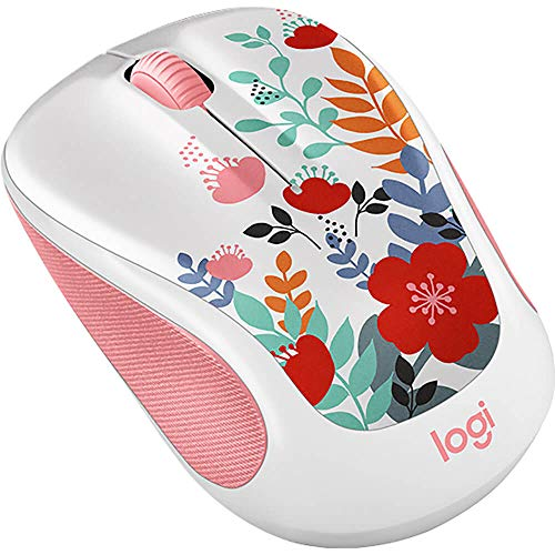 Logitech Color Collection - Mouse - Optical - 5 Buttons - Wireless - 2.4 GHz - USB Wireless Receiver - Summer Bouquet