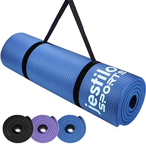 Jestilo Yoga Mat for Women and Men| Non-slip NBR exercise mat | Eco-friendly,...