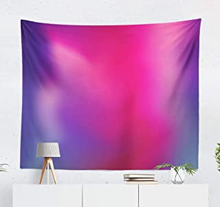 Whoakaka Wall Tapestry,Vibrant Neon Pastel Home Decorative Wall Hanging Polyester Tapestry for College Dorm, Picnic Blanket and Beach Throw 50L x 60W Inches,Vibrant Neon
