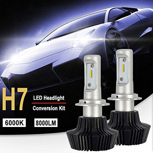 Bombilla H7 LED Coche, 10000LM Faros Delanteros Bombillas para Moto, Reemplazo de...