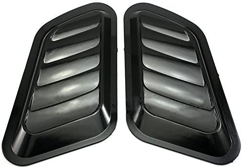 NEVERLAND 2 x ABS Car Universal Decorative Intake Scoop Turbo Bonnet Vent Hood Auto
