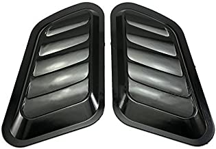NEVERLAND 2 x ABS Car Universal Decorative Intake Scoop Turbo Bonnet Vent Cover Hood Auto