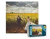 Puzzles de madera personalizados con foto y texto | Máxima calidad de impresión | Diferentes tamaños disponibles (4 a 25 piezas) | Tamaño: 25 piezas (26,5 x 19 cm) - Con caja personalizada