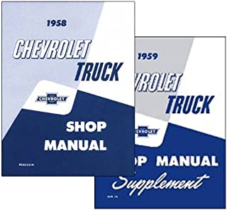 1959 Chevy Chevrolet Truck Repair Shop Service Manual 59 (Two Book Set with Decal)