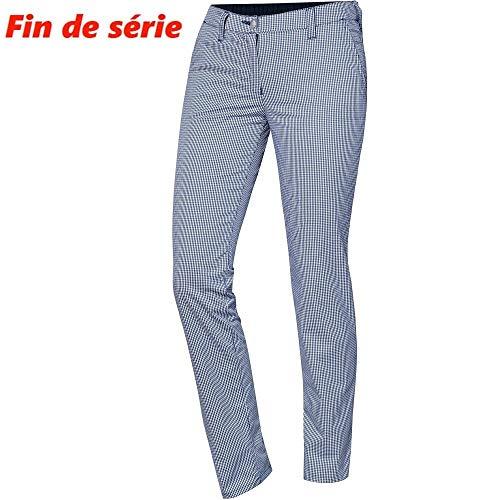 BP 1734-930-19-42l Frauen-Chinos, Stretch-Stoff, 215,00 g/m² Stoffmischung mit Stretch, blau-weißes Karomuster, 42l
