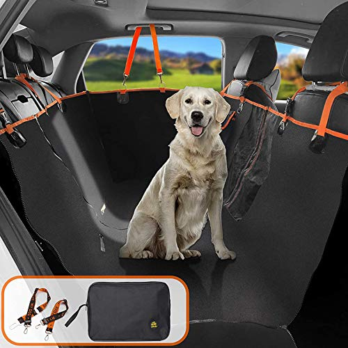 Coprisedile auto per animali domestici, 4 in 1 sedile Impermeabile rimovibile per animali domestici, con 2 cinture di sicurezza e 1 custodia
