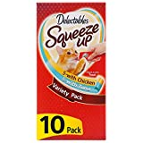 Hartz Delectables Squeeze Up Interactive Lickable Wet Cat Treats for Adult & Senior Cats, Chicken & Tuna, 10 Count