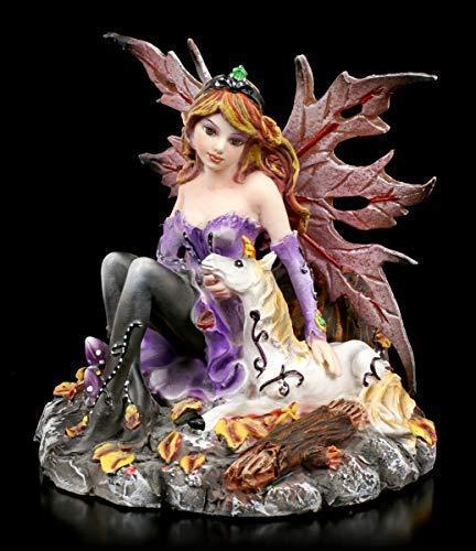 Fantasy Elfen Figur - Tamanka mit Einhorn | Dekoartikel, Handbemalt