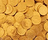 LaetaFood Gold Coins Milk Chocolate Candy Candy, Half Dollar Candy (1 Pound Bag)